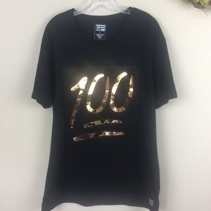 ☘️3/$15 Phat Farm Black Tee Shirt 100 Size L